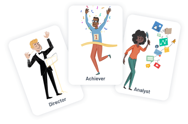 achiever group illustration