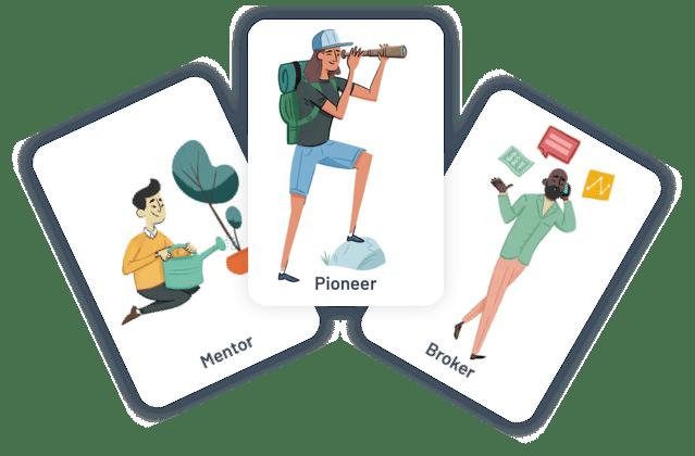 pioneer group illustration