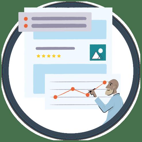 Illustration of infographic resume