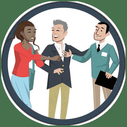 connect talent Illustration