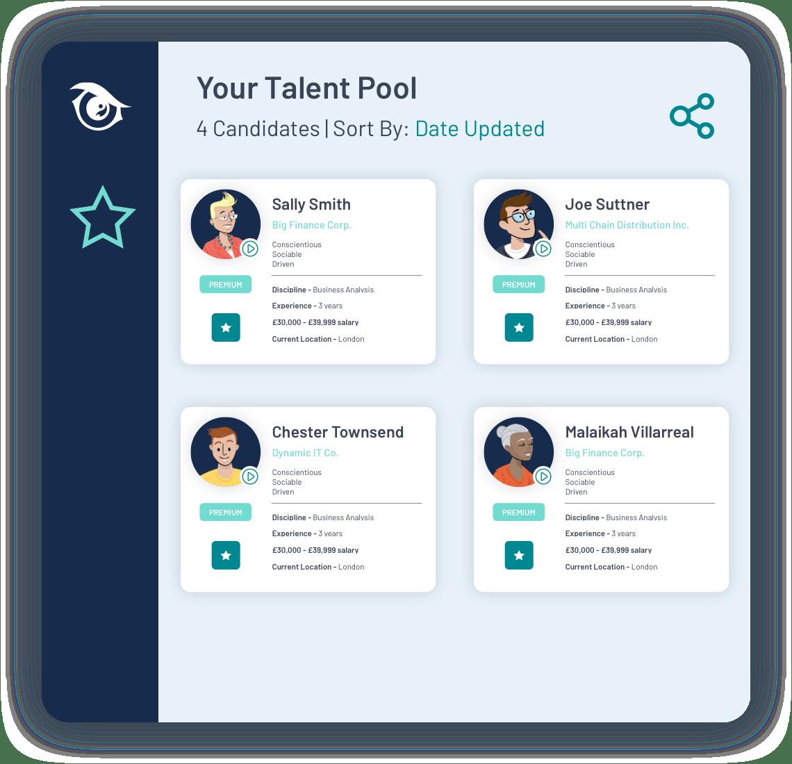 PeopleHawk Demo talent pool