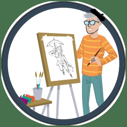 Candidates create Illustration
