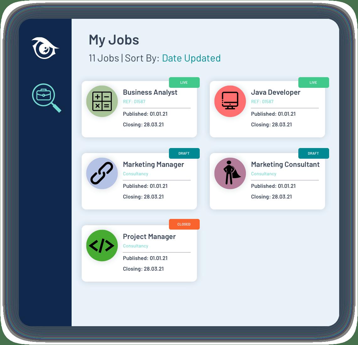 PeopleHawk Demo job genie listings
